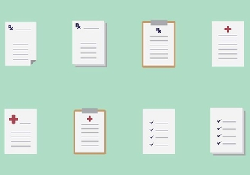 Prescription Pad Icons - vector #405493 gratis