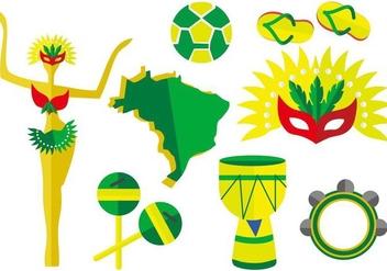 Free Brazil Element Vector Illustration - Free vector #405603