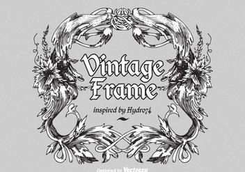 Free Vintage Ornate Vector Frame - Kostenloses vector #405693