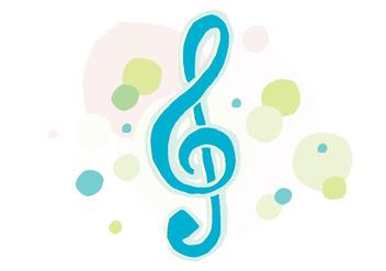 Artistic Violin Key - Kostenloses vector #405753