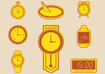 Clock Evolution Icon - Free vector #405853