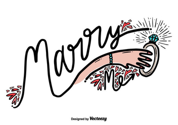 Free Marry Me Hand Draw Vector - vector #405883 gratis