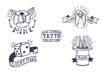 Free Old School Tattoo Collection - Free vector #405923