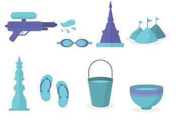 Free Songkran Festival Vector - Free vector #406033
