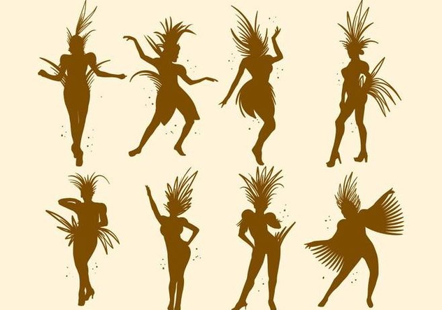 Free Silhouette of Samba Vector - Free vector #406113
