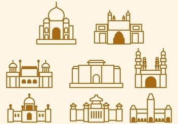 Free India Landmark Vector - Kostenloses vector #406133