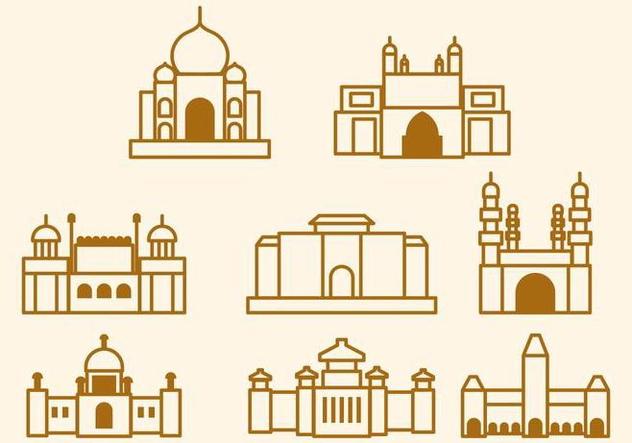 Free India Landmark Vector - Free vector #406133