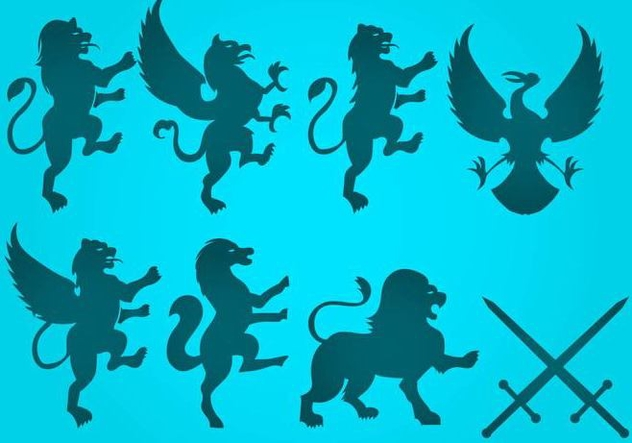 Free Lion Rampant Vector - Free vector #406163