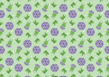 Thistle Flowers Ornament Seamless Pattern - vector gratuit #406193