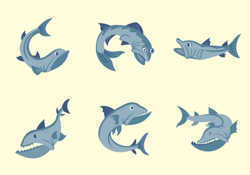 Barracuda fish vector illustration - Free vector #406343