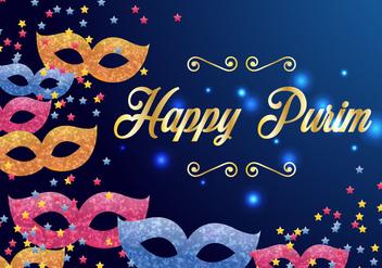 Purim Carnival Invitation Vector - Free vector #406463