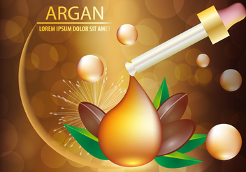 Argan Oil Serum And Background Concept Skin Care Cosmetic - vector gratuit #406503