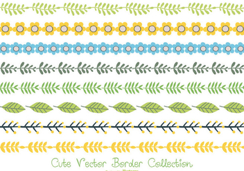 Cute Pastel Color Border Collection - vector #406663 gratis