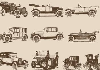 Vintage Motor Cars - Kostenloses vector #406743