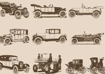 Vintage Motor Cars - Free vector #406743