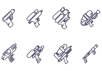 Water Gun Vectors - Free vector #406783