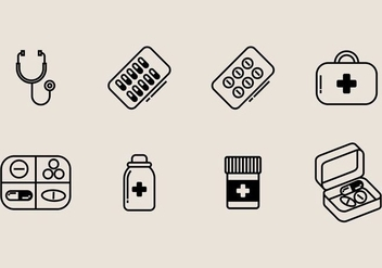 Pill Box Icon - Free vector #406833