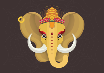 Ganesh Illustration - бесплатный vector #407033