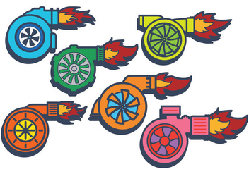 Turbocharger vector - Free vector #407093
