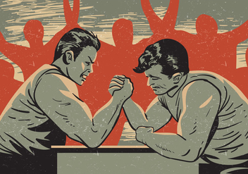 Arm Wrestling Competition - vector gratuit #407123