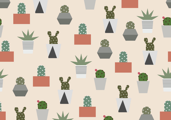 Cactus Pattern - Free vector #407223