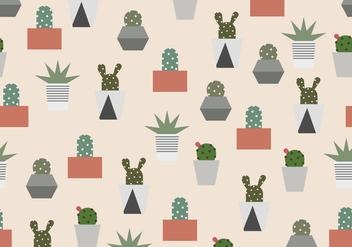 Cactus Pattern - vector #407223 gratis