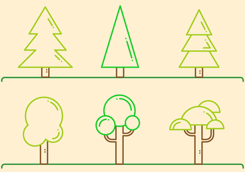 Free Trees Vector - Free vector #407293