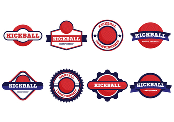 Free Kickball Vector Badges Collection - Kostenloses vector #407573
