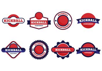 Free Kickball Vector Badges Collection - Free vector #407573