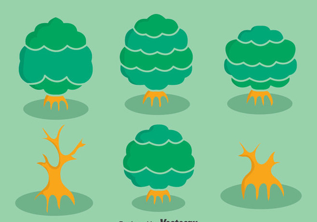 Mangrove Tree Collection Vector - Free vector #407593