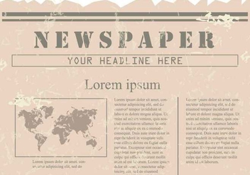 Vintage Old Newspaper Background - бесплатный vector #407753