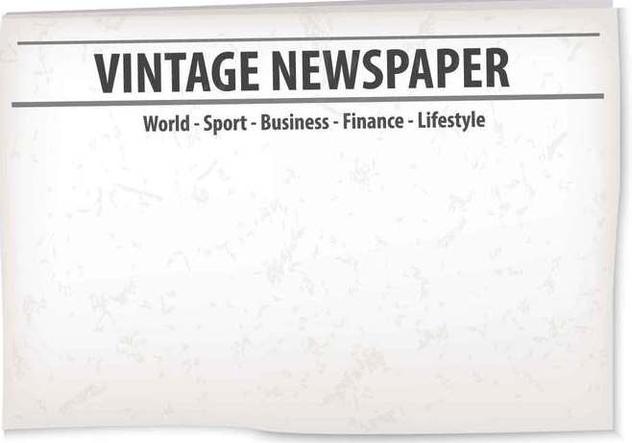 Vintage Old Newspaper Background - vector #407763 gratis