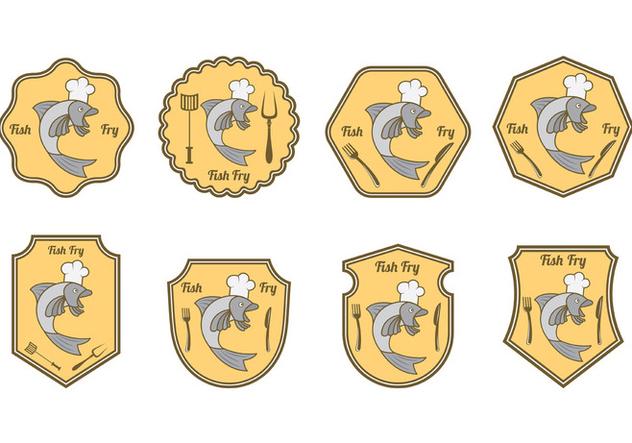 Set Of Fish Fry Badge - vector #407823 gratis