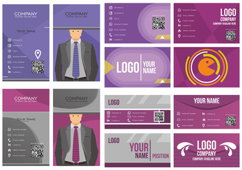 Purple Namecard Vector Design - Kostenloses vector #407863