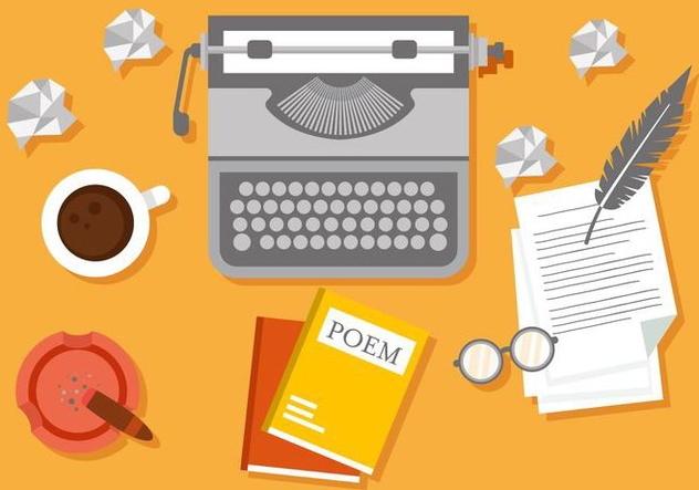Free Writer Workspace Vector Illustration - vector #407883 gratis