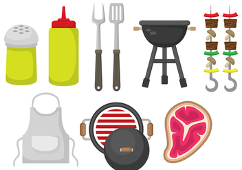 Brochette Vector Icons - бесплатный vector #407903