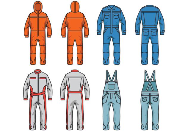 Overalls and Jumpsuit Vectors - vector #407913 gratis