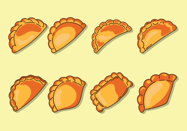 Empanadas Icons - vector #407923 gratis