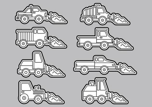 Snow Plow Icons - vector #407943 gratis