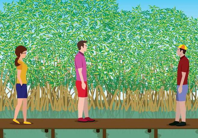 Free Mangrove Illustration - Free vector #408063