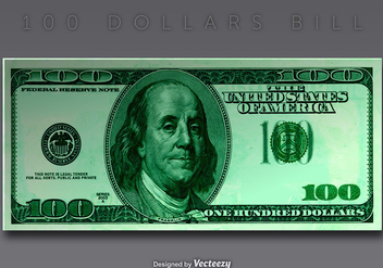 Vector 100 Dollar Bill - vector gratuit #408123