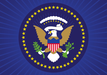 Free Flat Presidential Seal Vector Design - Free vector #408133