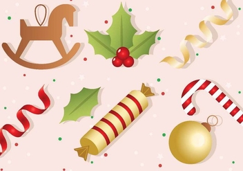 Free Vector Christmas Elements - Free vector #408493