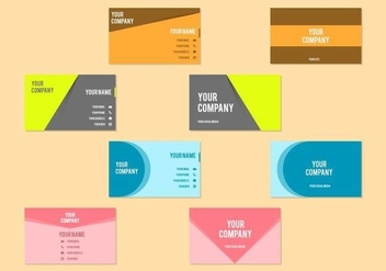 Free Business Card Vector Template - vector gratuit #408543