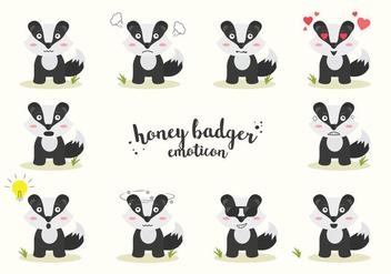 Free Honey Badger Vector - vector #408573 gratis