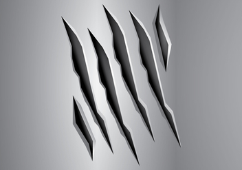 Free Metal Tear Vector Illustration - Free vector #408643