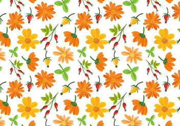 Free Flowers Pattern Vectors - бесплатный vector #408943