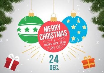 Free Christmas Vector Balls - vector gratuit #409043