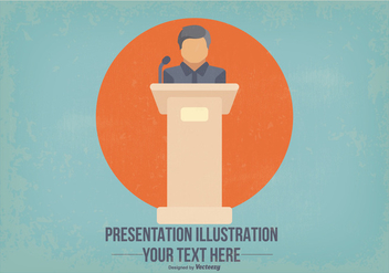 Flat Presentation Illustration - Free vector #409233