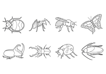 Free Insects and Bugs Icon Vector - Kostenloses vector #409293